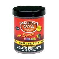 Omega One Floating Super Color Pellets Fish Food, 3.5 oz.