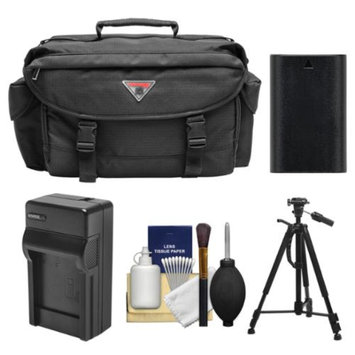 Precision Design 2000 Digital SLR Camera Case with Battery & Charger + Tripod + Accessory Kit for Canon EOS 6D, 7D, 70D, 5D Mark II III