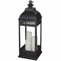 Smart Solar 80071 San Nicola Triple LED Candle Lantern - Bronze