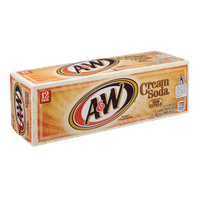 A&W Cream Soda with Aged Vanilla - 12 PK