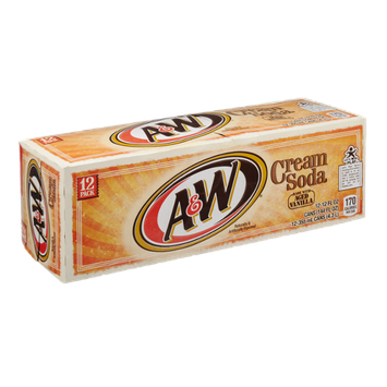 A&W Cream Soda with Aged Vanilla - 12 PK