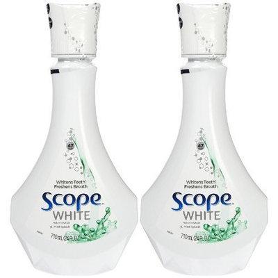 Scope Outlast Mouthwash-White Mint Splash-24oz, 710 milliter