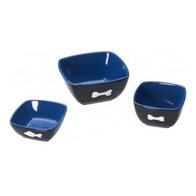 Ethical 5 -Inch Vista Cat Dish, Blue/Black