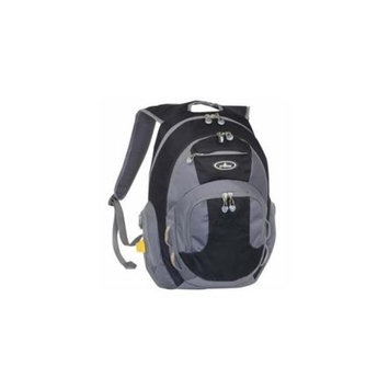 Everest DP1000-BK-GRY Deluxe Travelers Laptop Backpack - Black-Grey
