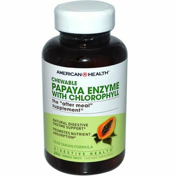 American Health Papaya Enzyme with Chlorophyll Chewable 250 Tablets