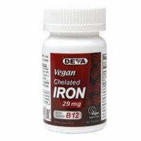 Deva Vegan Vitamins Chelated Iron 29mg with added B12, Tablets, 90 ea