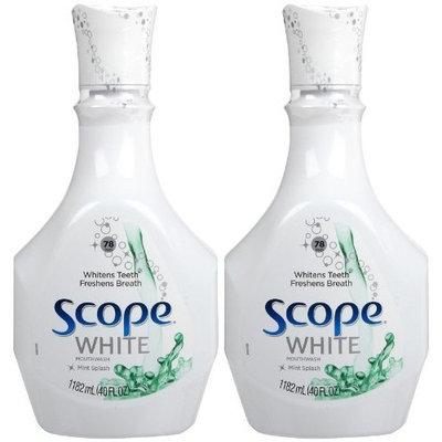 Scope Outlast Mouthwash-White Mint Splash-40 oz, 1.182liter