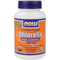 NOW Foods Organic Chlorella 500mg 200 Tablets (Pack of 3)