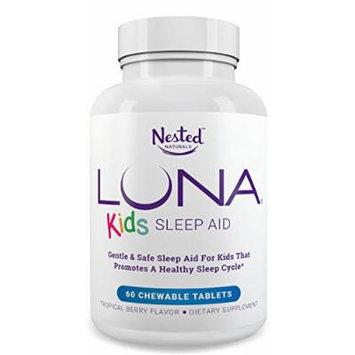LUNA Kids (60 Tabs) - #1 Natural Sleep Aid for Children 4+ and Sensitive Adults - Herbal, Gentle & Safe Sleeping Pill (Made with Melatonin, Valerian, Chamomile, Lemon Balm & More) - Lifetime Guarantee