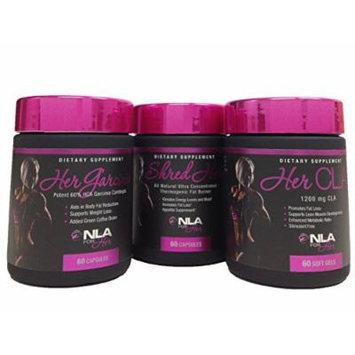 NLA for Her: Shred Her, Her CLA and Garcinia, 60 capsules Combo Pack