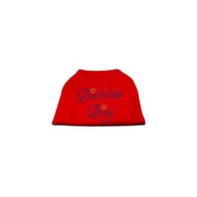 Mirage Pet Products 52-10 SMRD Birthday Boy Rhinestone Shirts Red S - 10