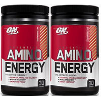 Optimum Nutrition Essential Amino Energy, Pack of Two 30 Servings (Strawberry Lime 2 x 30 servings)