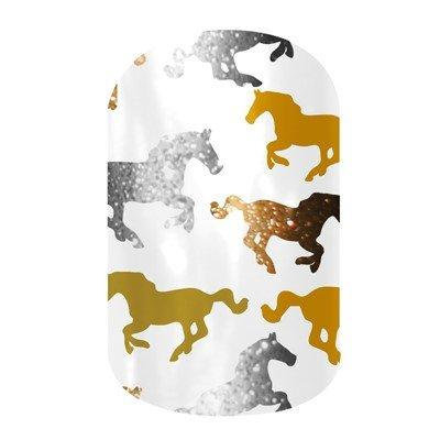 Jamberry Nails Half Sheet Nail Wrap Animal Prints (Horses)