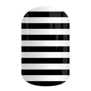 Jamberry Nails Half Sheet Nail Wrap Stripes, Dots & Chevron (Black & White Stripe)