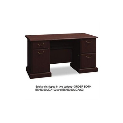 Bush Syndicate Collection Double Pedestal Desk - BUSH INDUSTRIES