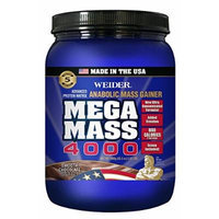 Weider MEGA MASS, Clean Anabolic Mass Gainer Formula, Smooth Chocolate, 3.96lbs