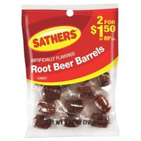 Sathers Candy Root Beer Barrels Candy # 10148 Artificially Flavored
