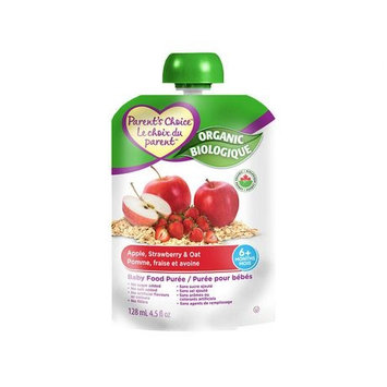 Parent's Choice® Organic Baby Food Puree Apple Strawberry & Oat
