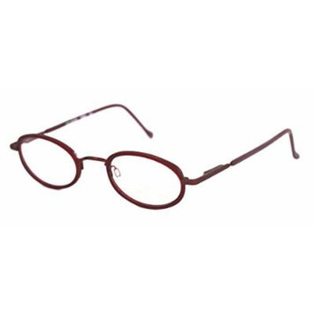 Bob Mackie Mens Oval Metal Red Eyewear Frame