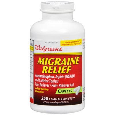 Walgreens Migraine Relief Coated Caplets, 250 ea