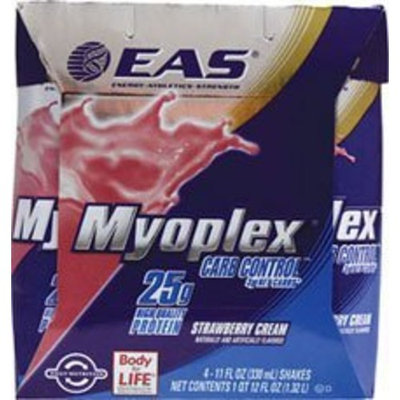 Myoplex Carb Sense Ready To Drink (RTD), STRAWBERRY, 24 Packs, 11 oz., From EAS