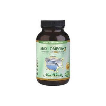 Maxi Health Triple Maxi Omega-3 Concentrate Fish Oil with Vitamin D3 2000 IU + 10 Free - 100 MaxiGe