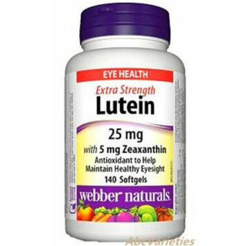 Webber Naturals Lutein 25 mg With Zeaxanthin 5 mg For Eye Health 140 Softgels