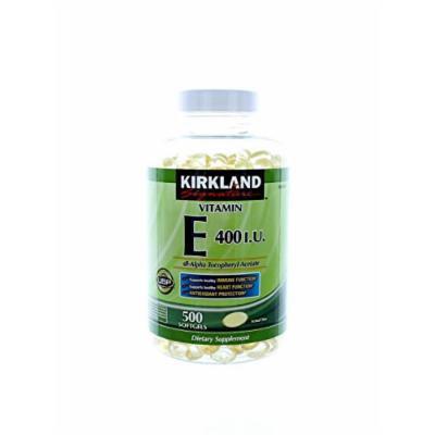 Kirkland Signature Vitamin E 400 I.U. 500 Softgels,(2 Count)