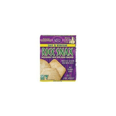 Edward & Sons Trading Co Cracker, Rice Snax, Slt&Vng, 2.80-Ounce (Pack of 6)
