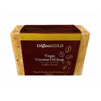 Organic Virgin Coconut Oil Soap and Body Scrub with Real COFFEE GRAINS Is the Best Natural Exfoliant and Cleanser for Face and Body - Handmade for Fresh Clean Feel Every Bath - Order Now for Healthy and Glowing Rosy Skin!