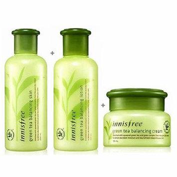 [ Innisfree ] Green Tea Balancing Skin Care Set (Skin200ml+Lotion160ml+Cream50ml)