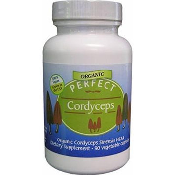 Perfect Cordyceps - Organic Cordyceps Sinensis, 90 Vegetable Capsules