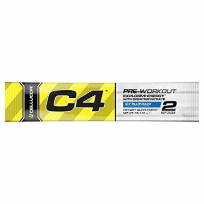 FREE SAMPLE - CELLUCOR C4 Pre Workout Supplement Icy Blue Razz 2 Serving (Discount at check-out with qualifying item)
