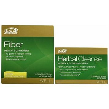 AdvoCare Herbal Cleanse & Fiber CITRUS (kit) , Herbal Cleanse 20 Capsules & Fiber 10 Pouches
