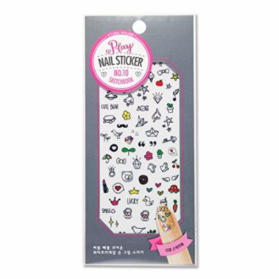 Etude House Play Nail Sticker [Water Free Decal] #10 Sketchbook