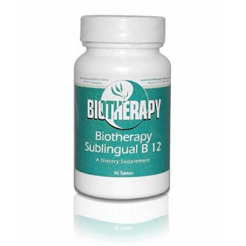 Biotherapy B12 - Methylcobalamin Sublingual B 12 ( Methyl B-12 ) Supports Nervous System / Brain Cells, 2000 mcg, 90 Tablets