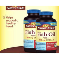 Nature Made Fish Oil 1200 mg 800 Count - Pack of 4