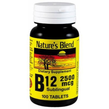 Nature`s Blend Vitamin B-12 (2500mcg) Sublingual Tablets 100 CT (PACK OF 2)