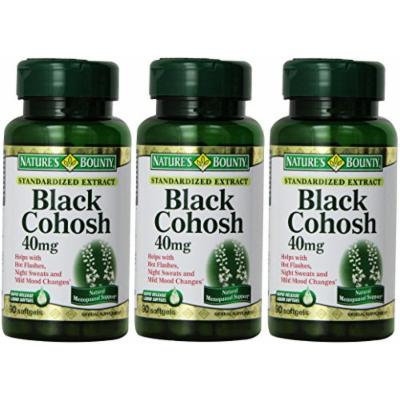 Nature's Bounty Black Cohosh, 40mg, Standardized Extract, 90 Softgels (Pack of 3)