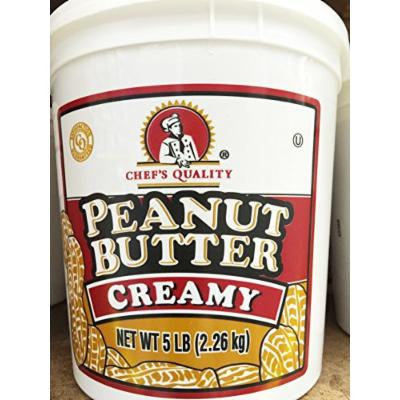 Chef's Quality 5 lb. Creamy Gourmet Peanut Butter Tub