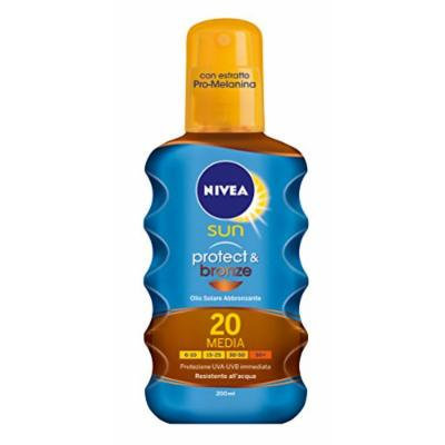 Sun Protect & Bronze Sun Tan Activating Protecting Oil SPF 20 Spray 200 ml