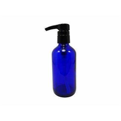 Perfume Studio® Professional Grade Blue Cobalt Glass Boston Round Bottle with Top Quality Dispensing Pump - Perfect for Lotions, Soaps, Massage and Skin Oils, Hair Treatments and More (8 OZ, COBALT BLUE)