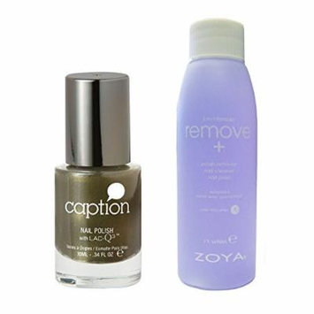 Bundle of Two Items: Caption Nail Polish in Pining for Spring .34 oz with Nail Polish Remover 2 oz
