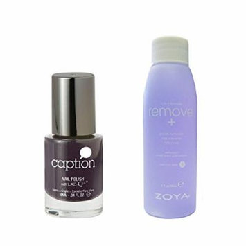 Bundle of Two Items: Caption Nail Polish in Straight Up No Sugar .34 oz with Nail Polish Remover 2 oz