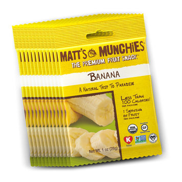 Matt's Munchies Gluten Free Fruit Snack Banana Fruit Leather 1 oz - Vegan