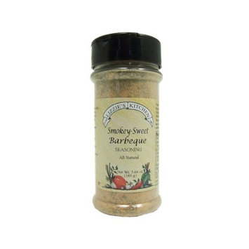 Lizzie's Kitchen Smokey-Sweet Barbeque Seasoning, 5.60 Ounce Plastic Jar