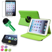 Insten iPad Mini 3/2/1 Case, by INSTEN Green 360 Leather Flip Case Cover+Matte Guard for iPad Mini 3 2 1