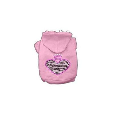 Ahi Zebra Heart Rhinestone Hoodies Pink XXL (18)