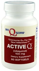 Tishcon Corp Active Q Ubiquinol CoQ10 100mg 60ct.
