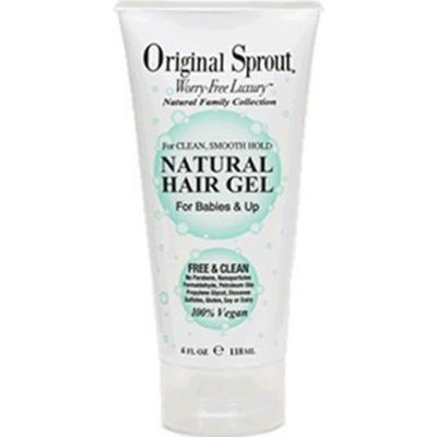 Original Sprout Natural Hair Gel (4 oz) - Vegan Formula Strengthens, Softens and Hydrates Hair; Medium Hold Tames Unruly Hair while Protecting Against Breakage